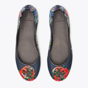 TORY BURCH Minnie Travel Ballet Flat Size 8